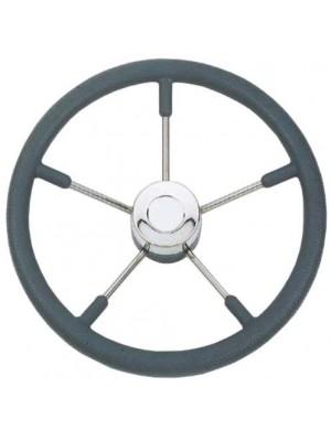 Volante Inox / Poliuretano/ Cinza 350mm