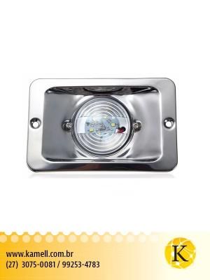 Luz Alcançado Retangular Inox, Led, 12vdc/2.2w