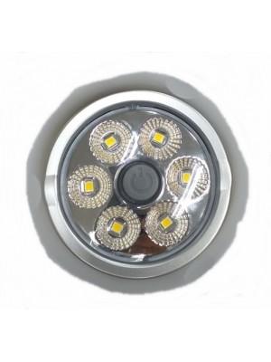 Luminária redonda 6 pcs de Led - 12/24v