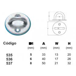 Alça com Base Redonda INOX (8mm)
